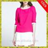 2015 sublimation T-shirt printing wholesale top sale high quality latest woman pure color t shirt