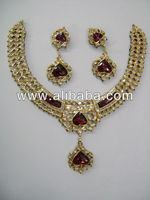 24k 22k bis hallmarked diamond polki kundan necklace set