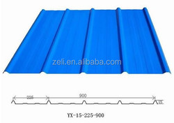 Corrugated Steel Roofing Sheet/Zinc Aluminum Roofing Sheet/Metal Roof YX15-225-900
