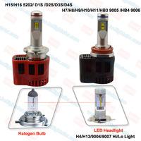 2015 new h4 led head lamp and h7 led head light auto for car led headlight Hi/Lo bright chips ZES