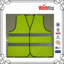 2015 workwear sleeveless safety vest with reflective strip