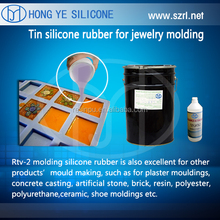 RTV-2 molding silicone rubber for resin jewelry
