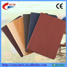 Wooden shape pu smart leather case for apple ipad air ipad 6, for ipad air 2