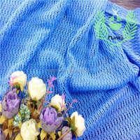 Imported fabrics china light royal blue check design lace fabrics