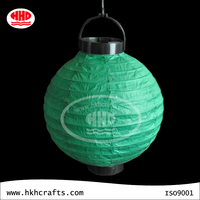 Green paper lantern battery operated mini led lights for party decorations