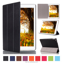 New coming 10 colors available ultra thin Leather Flip cover for ipad pro 12.9 tablet case