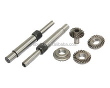 Top quality customized OEM gear with shaft,bevel pinion gear with shaft, spur gear with shaft