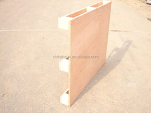 package used pallet with plywood board