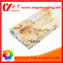 PVC decorative artificial stone plastic composite skirting pvc faux marble wall panels