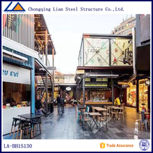 Prefab Modular Container House For Decorated Commercial Street Shopping Mall Store