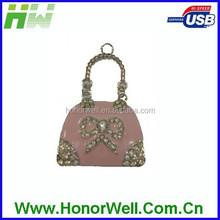 The crystal bag usb flash drive stick disk memory for hot sell high quality chip