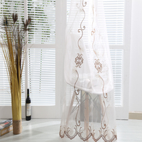 Oriental ready curtains voile string embroidery tulle curtain drapes for door curtains