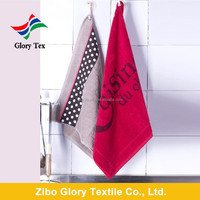2015 new style yarn dyed and jacquard cotton hanging kitchen tea towels