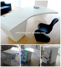 White modern office tables, Marble office desk chairs, White office