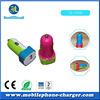 cheap wireless accessories colorful usb car charger with single port in zhongshan factory