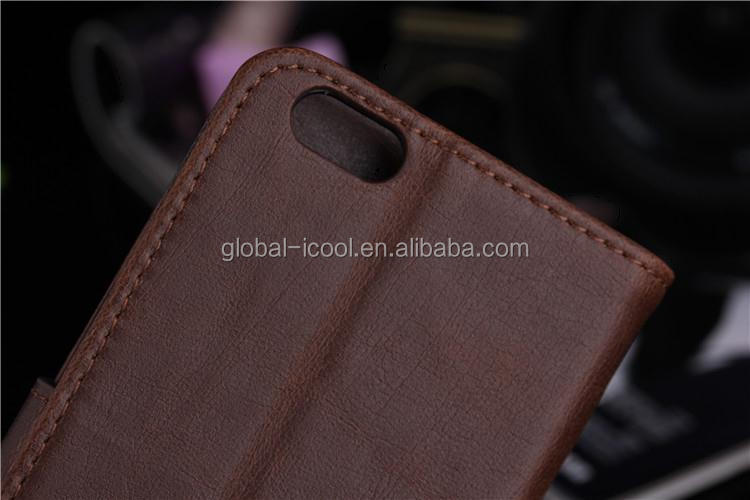 Retro wallet leather case for iphone 6