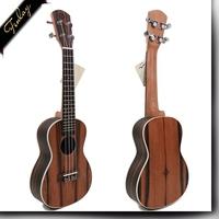 Finlay FU-ATT 24 Inch For Starter Professional manufacturer Ebony Wood excellent Ukulele,hawaiian guitar