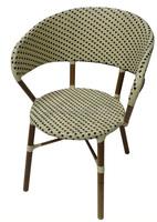 restaurant seating aluminum frame bistro bamboo look chair iron bistro garden chair