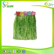 Cheap wholesale grass skirt hawaiian outfits