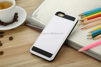 Newest Fashion White Shockproof Slim Back Slide combo Armor Case For iPhone 6S