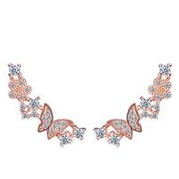 Top design crystal jewelry ,butterfly korea stud earring