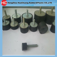 Supply Rubber Flat Buffer 15*15 with M4 screw Male to Male type