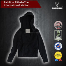 cheap wholesale special fleecy wide hood short wholesale blank hoodie