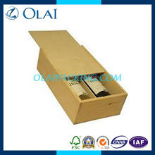 up-market simple double wooden wine packing box from china