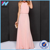 Yihao New Designs Girls 2016 Woman Clothes 2015 Party Wear Pink Women Long Dresses Halter Pleated Backless Fashion Maxi Dress