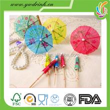 Customized decorative umbrella toothpicks