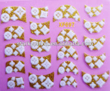 2016 wholesale fashion 3D Nail Art Stickers & Decals for velvet nail stickers