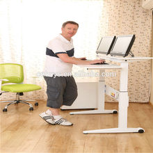 hu tempered glass office table for wholesales