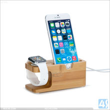 Popular Charging Base Wood Stand For Apple Watch, 2 in 1 Combo Wood Stand Holder for Apple Watch and For iPhone 6