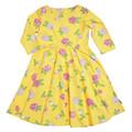 Neue modell mädchen florale chiffon sommer kittel dreses/Kinder mädchen langarm smok kleid