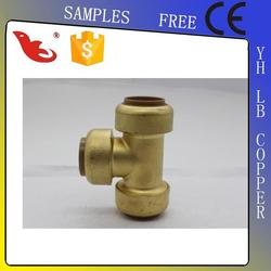 LB-Guten Top cUPC NSF approved Lead Free Brass Push-fit pumping tee