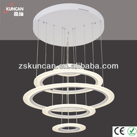 Continuous big acrylic ring chandelier light