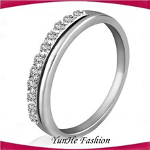 2015 Hot-Selling Korean Jewelry Fashion Simple Diamond Wedding Rings