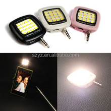 2015 New Arrival RK05 3.5mm Smartphone LED Flash Fill-In Light for Mobile Cell Phone Phone External Flash Selfie Flash Light
