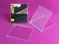 calendar case transparent plastic cd calendar box