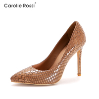 2015 italian woman snake pu high heel shoes sexy office lady dress shoes