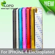 custom design electroplating bulk cell phone case for iPhone 4