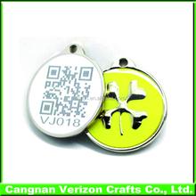 cheap bulk custom engraved pet dog tag in zinc