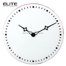 Top quality decorative simple modern design quartz rhythm glass wall clock