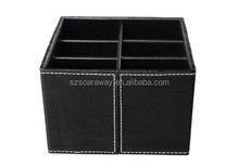 Black leather organizer hot sale Documenty Tray for office