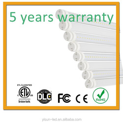 most popular 50,000hrs 5years warranty 4ft t8 led tube light 22w
