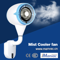 2015 hot selling china factory wholessale 220v 320W 9L high standard super quite Wall Mounted Refrigerated mist Air fan