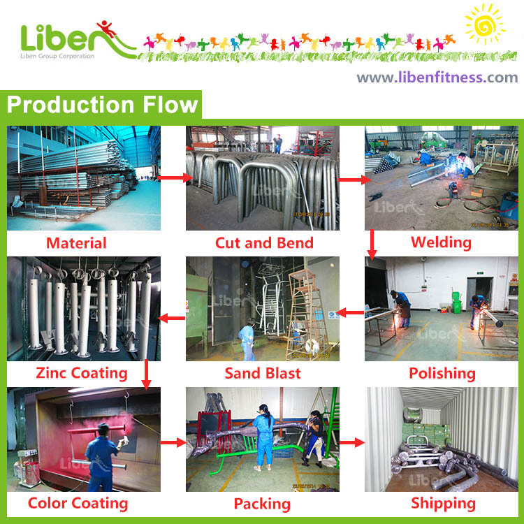 production process from outdoor fitness equipment supplier