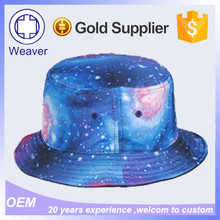 Custom Printed Floral Bucket Hats / Fishing Starry Sky Fabric Bucket Hat Pattern