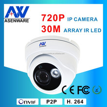 Asenware Indoor Mini Onvif 1Megapixel Dome 720P IP Camera AW-IP413