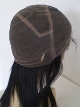 direct factory large stock! natural color virgin remy lace cap for wig making